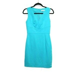 Trina Turk turquoise bodycon sheath dress mini